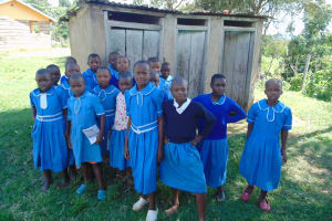 The Water Project: Lwombei Primary School -  Girls At Their Latrines