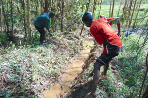 The Water Project: Bumavi Community, Joseph Njajula Spring -  Drainage Opening