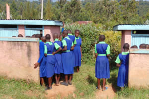 The Water Project: Boyani Primary School -  Girls Line Up At Their Pit Latrines