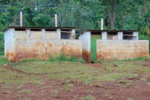 The Water Project: Gamalenga Primary School -  Girls Latrine Block