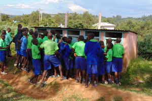 The Water Project: Boyani Primary School -  Boys Queueing To Use Pit Latrines