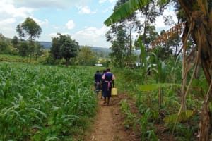 The Water Project:  Students Heading To Fetch Water