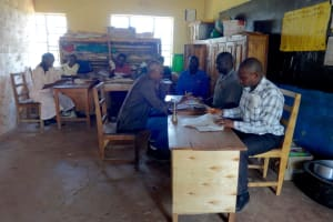 The Water Project: St. Michael Mukongolo Primary School -  School Staff At Work In The Staffroom
