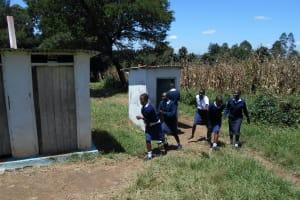 The Water Project: Friends School Shivanga Secondary -  Girls Rushing To The Latrines