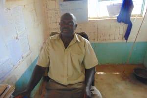 The Water Project: Lwombei Primary School -  Deputy Head Teacher Mr Teddy Liabeya
