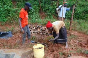 The Water Project: Shisere Community, Richard Okanga Spring -  Grass Planting