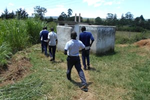 The Water Project: Friends School Shivanga Secondary -  Boys Head To Their Latrines