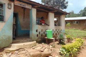 The Water Project: Lwombei Primary School -  Handwashing Station Outside The Staffroom