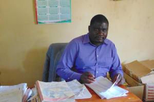 The Water Project: St. Kizito Kimarani Primary School -  Teacher Preparing For A Lesson