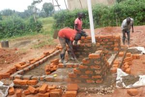 The Water Project: Friends School Mutaho Primary -  Latrine Brickwork