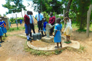 The Water Project: Friends School Vashele Secondary -  Students Collecting Water