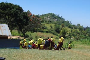 The Water Project: Givudemesi Primary School -  Racing To The Latrines