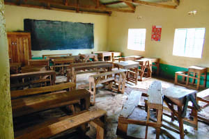 The Water Project: Gamalenga Primary School -  Classroom While Pupils Take A Break