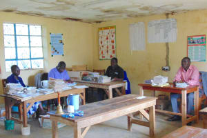 The Water Project: St. Kizito Kimarani Primary School -  Teachers In The Staffroom