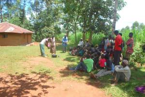 The Water Project: Shisere Community, Richard Okanga Spring -  Handwashing Practice