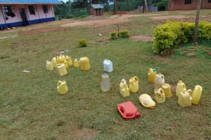 The Water Project: Jinjini Friends Primary School -  Water Storage Containers On Campus