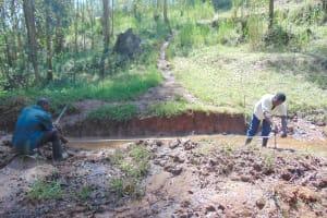 The Water Project: Bumavi Community, Joseph Njajula Spring -  Site Measurements