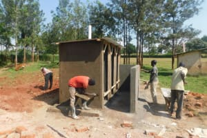 The Water Project: Friends School Mutaho Primary -  Latrine Work Continues