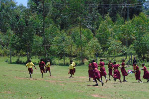 The Water Project: Givudemesi Primary School -  Students Play On Playground