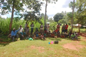 The Water Project: Shisere Community, Richard Okanga Spring -  Community Members Responds To A Prompt