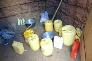 The Water Project: Jinjini Friends Primary School -  Water Storage Containers In The Kitchen