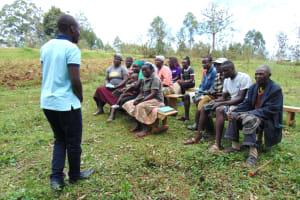 The Water Project: Bumavi Community, Joseph Njajula Spring -  Training Begins
