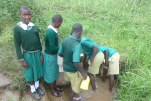 The Water Project: Friends School Mahira Primary -  Students Collecting Water