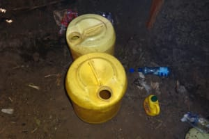 The Water Project: St. Michael Mukongolo Primary School -  Water Storage Containers In The Kitchen