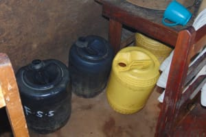 The Water Project: Kinu Friends Secondary School -  Water Storage Containers In The Kitchen