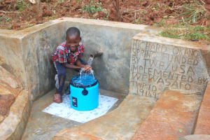 The Water Project: Shisere Community, Richard Okanga Spring -  Happy Day At The Spring