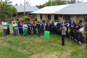 The Water Project: Gimariani Secondary School -  Handwashing Demonstration