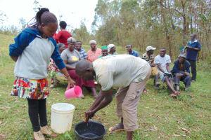 The Water Project: Bumavi Community, Joseph Njajula Spring -  Handwashing Practice