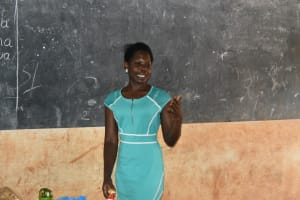 The Water Project: Friends School Mutaho Primary -  Trainer Lynnah In Action