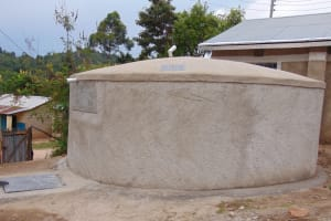 The Water Project: Gimariani Secondary School -  Rain Tank Side View