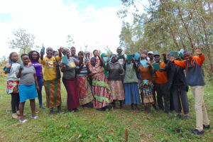 The Water Project: Bumavi Community, Joseph Njajula Spring -  Happy Faces After Completing Training