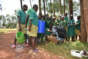 The Water Project: Friends School Mutaho Primary -  Handwashing Session