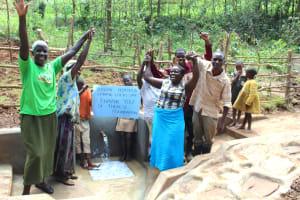 The Water Project: Bumavi Community, Joseph Njajula Spring -  Celebrating The Spring