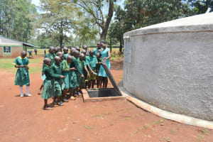 The Water Project: Friends School Mutaho Primary -  Learning About The Tank