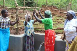The Water Project: Bumavi Community, Joseph Njajula Spring -  High Five For Clean Water