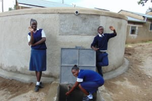 The Water Project: Gimariani Secondary School -  Students Pose With The Rain Tank