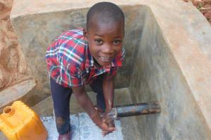 The Water Project: Shisere Community, Richard Okanga Spring -  Handwashing At The Spring