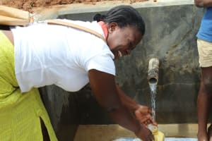 The Water Project: Ebutindi Community, Tondolo Spring -  Grateful For Clean Water