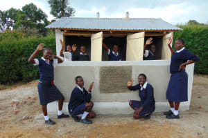 The Water Project: Gimariani Secondary School -  Girls With Their New Latrines