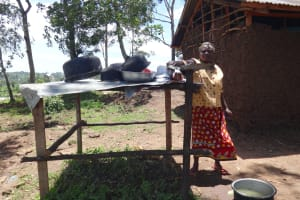 The Water Project: St. Michael Mukongolo Primary School -  School Cook At The Dishrack