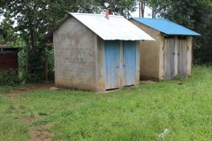 The Water Project: Sawawa Secondary School -  Girls Latrines