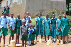 The Water Project: St. Kizito Kimarani Primary School -  Students Posing At The School Entrance
