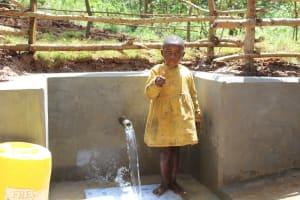 The Water Project: Bumavi Community, Joseph Njajula Spring -  All Ages Appreciate Safe Water