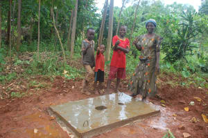 The Water Project: Shisere Community, Richard Okanga Spring -  Proud New Owners Of A Sanitation Platform