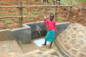 The Water Project: Ebutindi Community, Tondolo Spring -  Ta Da Clean Water