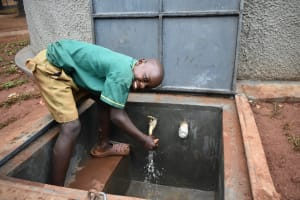 The Water Project: Friends School Mutaho Primary -  Washing Hands At The New Water Tank